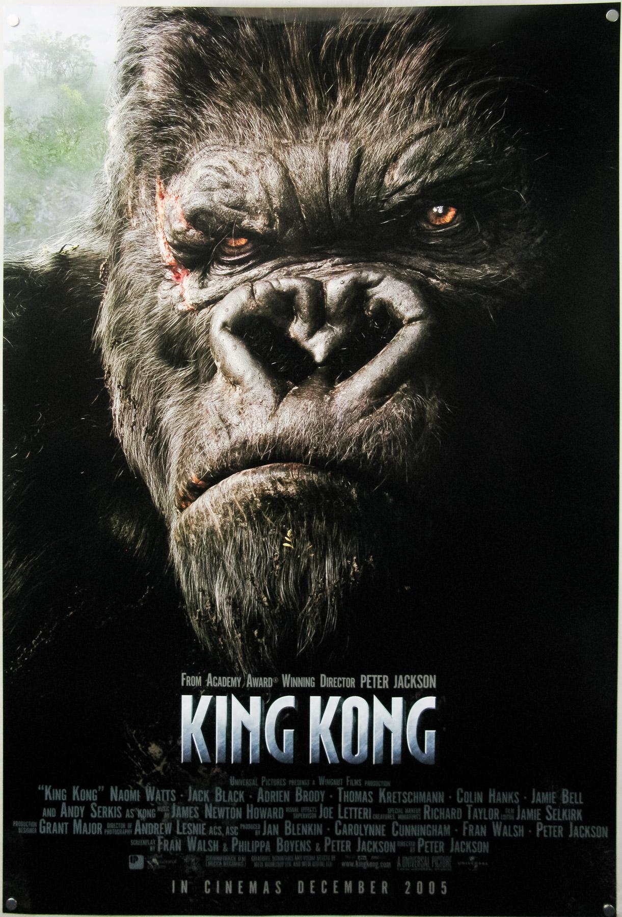 King Kong 2005 One Sheet Advance Kong Portrait Style International
