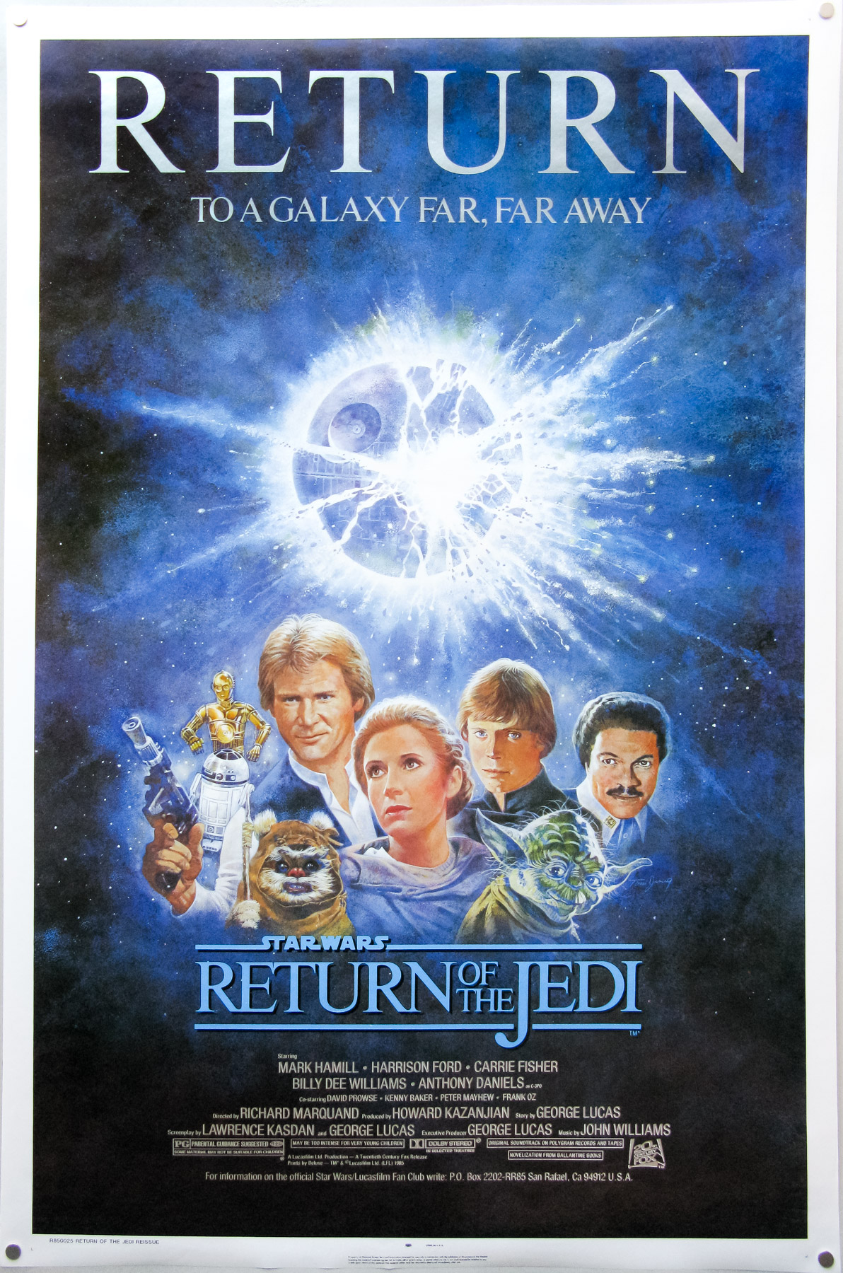 jedi return release usa sheet 1985 re posters