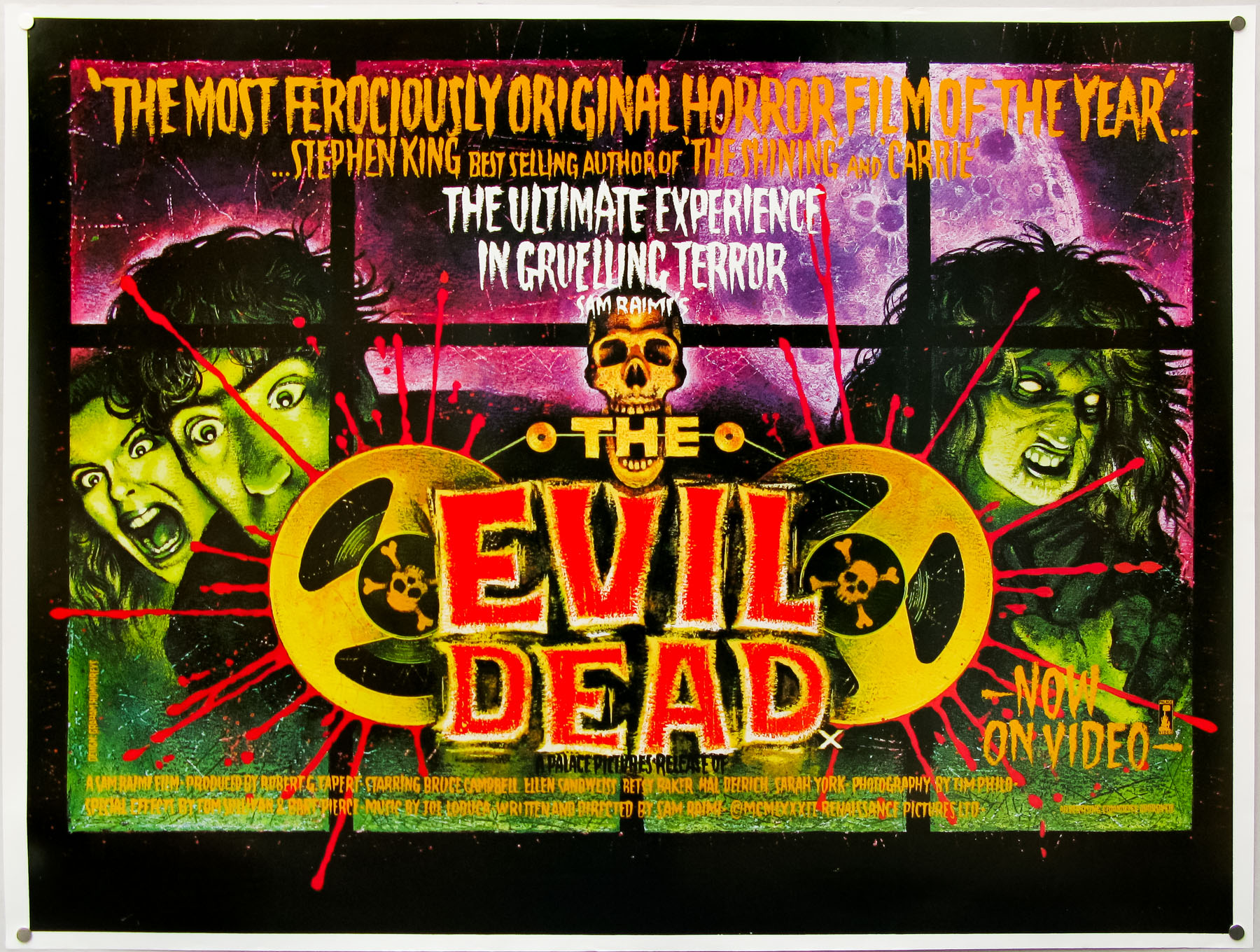 The Evil Dead – British quad poster painted by Graham Humphreys