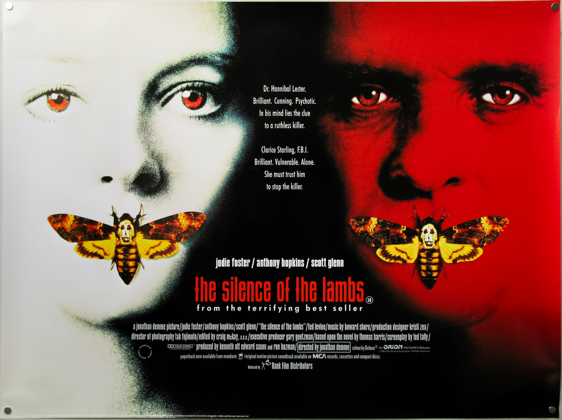 The Silence Of The Lambs / quad / UK