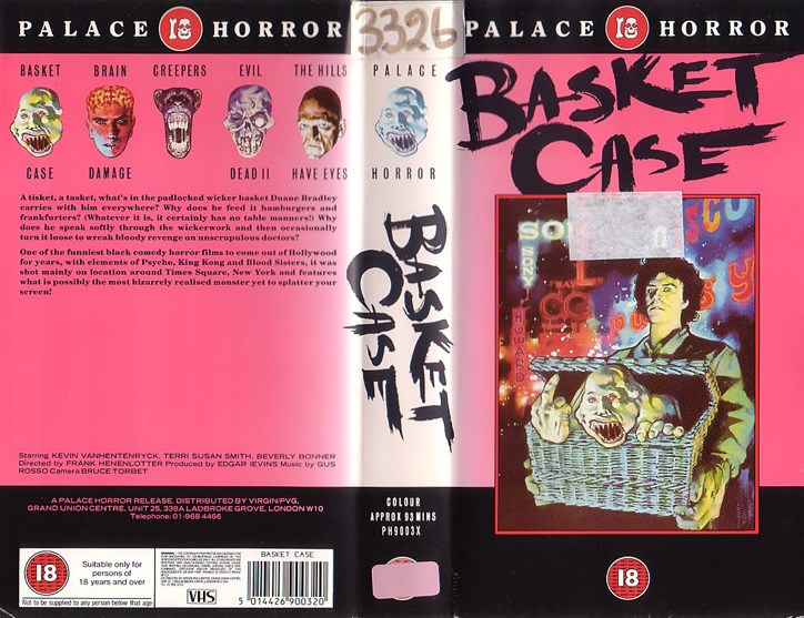 Basket Case - VHS cover
