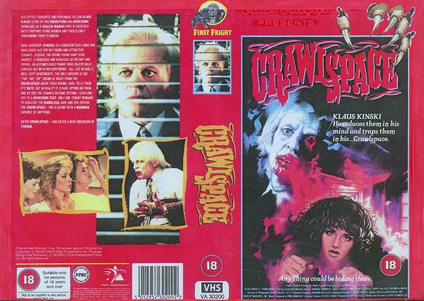Crawlspace - VHS cover
