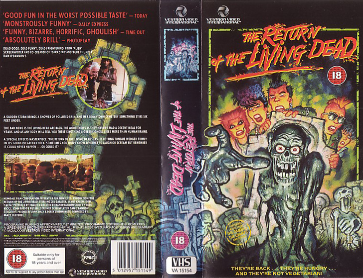 The Return of the Living Dead - VHS cover