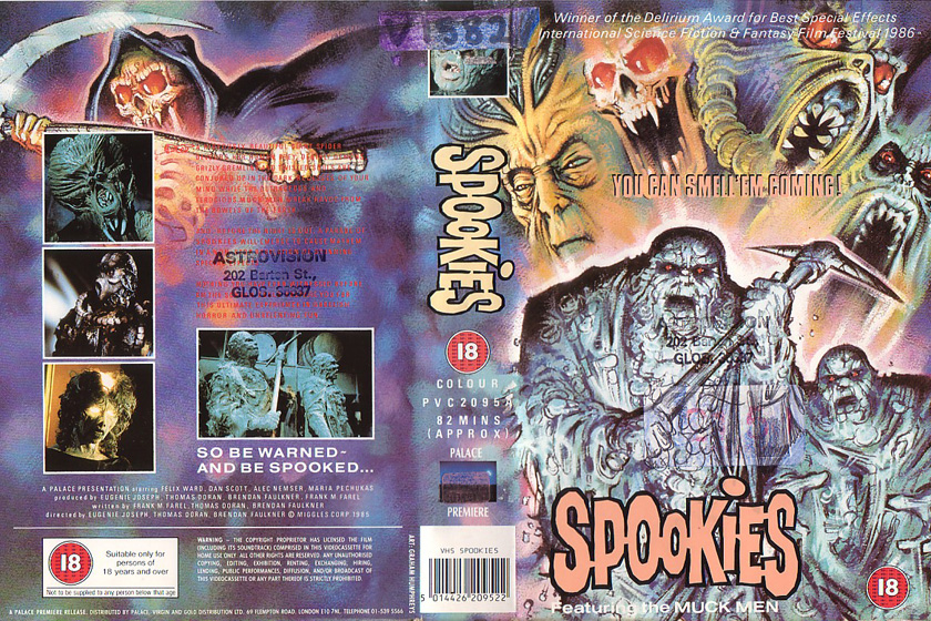 Spookies - VHS cover - Thanks to Dale at VivaVHS.co.uk for the scan