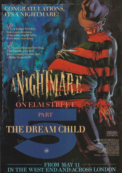 A Nightmare on Elm Street 5 - Time out London advert
