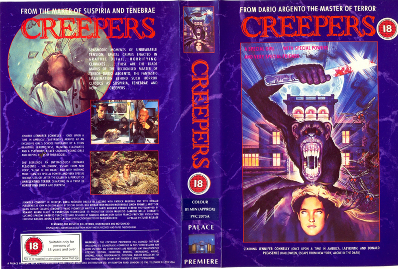 Creepers - VHS cover