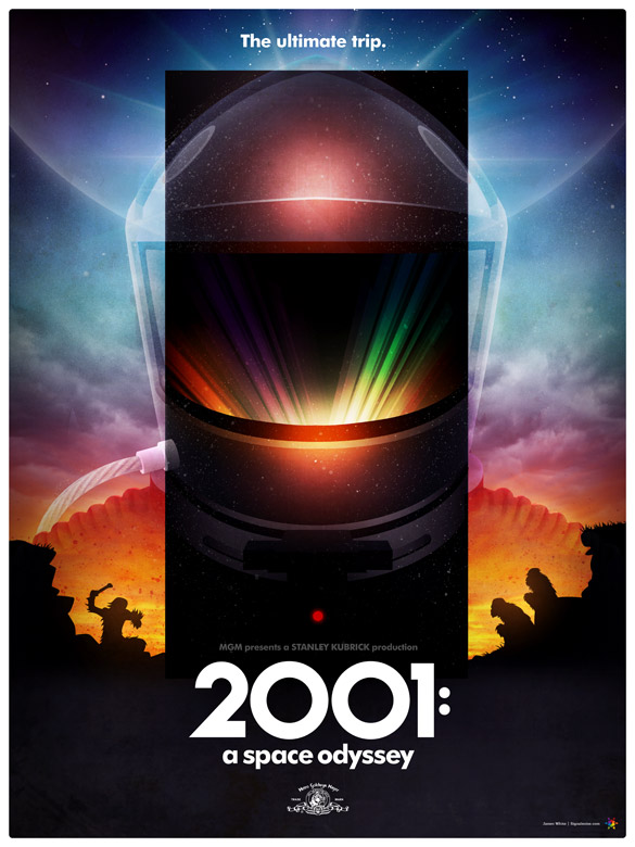 2001: A Space Odyseey V2 - poster by James White [Signalnoise]