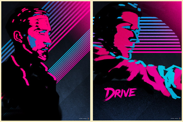 Drive poster - digital studies - designed by James White [Signalnoise]