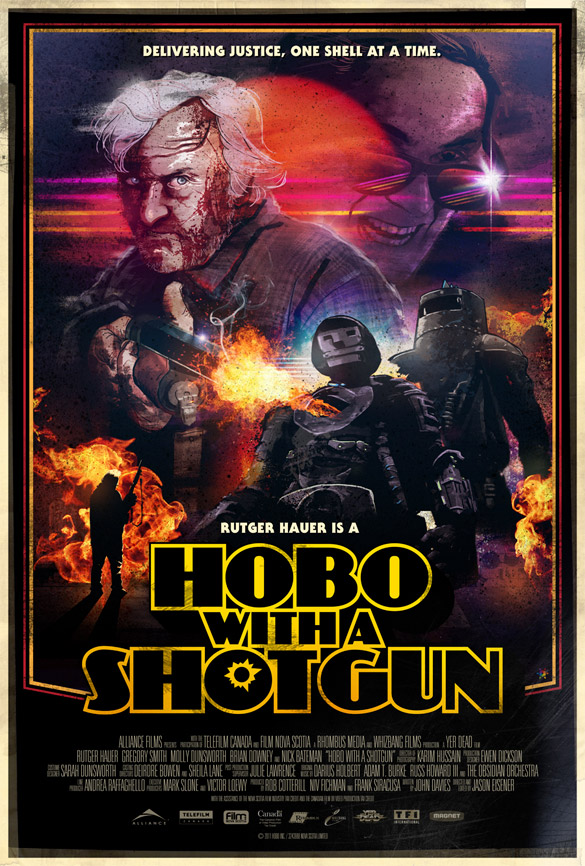 Hobo With a Shotgun - poster by James White [Signalnoise]