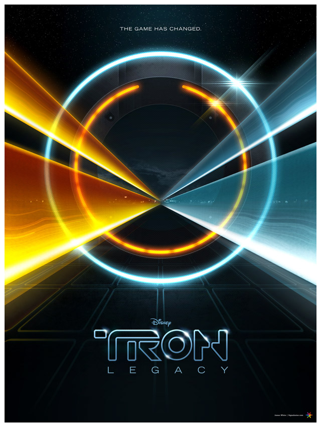 Tron Legacy - self-initiated poster by James White (Signalnoise)
