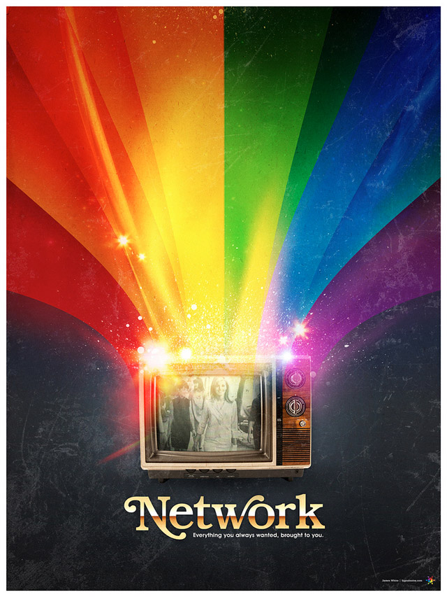 Network - poster designed by Signalnoise in 2009