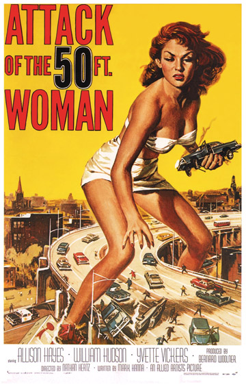 Attack of the 50ft Woman - USA one sheet with artwork by Reynold Brown