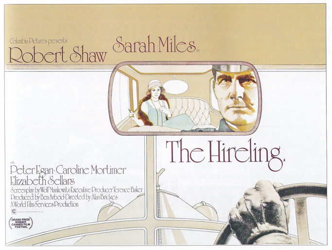 The Hireling - quad poster with artwork by Vic Fair. Sim: 'Another strikingly imaginative design, and one of the artist's own favourites.'
