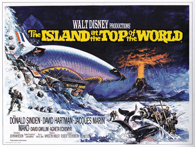 The Island at the Top of the World - quad poster with artwork by Brian Bysouth from a design by Eric Pulford.
