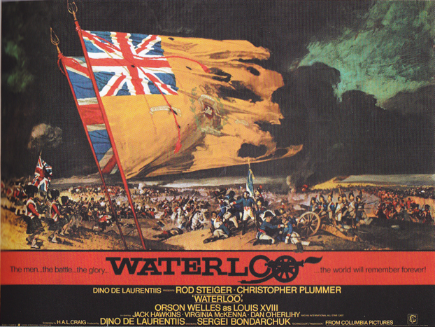 Waterloo quad poster with artwork by Renato Fratini from a design by Eric Pulford, 1970