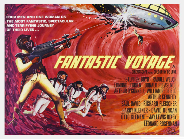 Fantastic Voyage - British quad poster with artwork by Tom Beauvais (1966) - image taken from moviepostercollectors.com