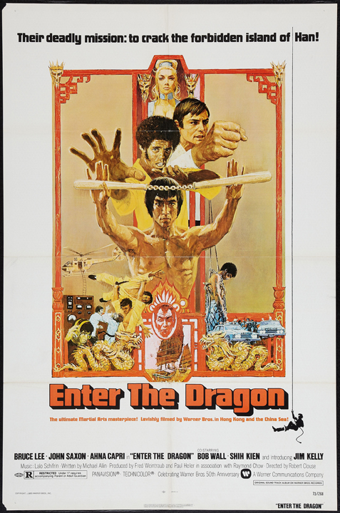 The US one sheet for Bruce Lee's Enter the Dragon