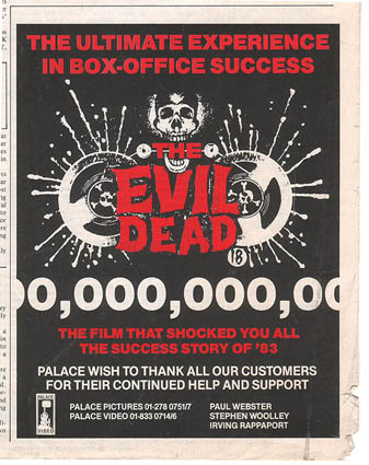 Next is a press advert designed by Graham that was announcing the incredible success of the film's release.