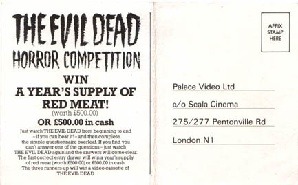 There was a competition set up around the film's release and the top prize was £500 worth of red meat!