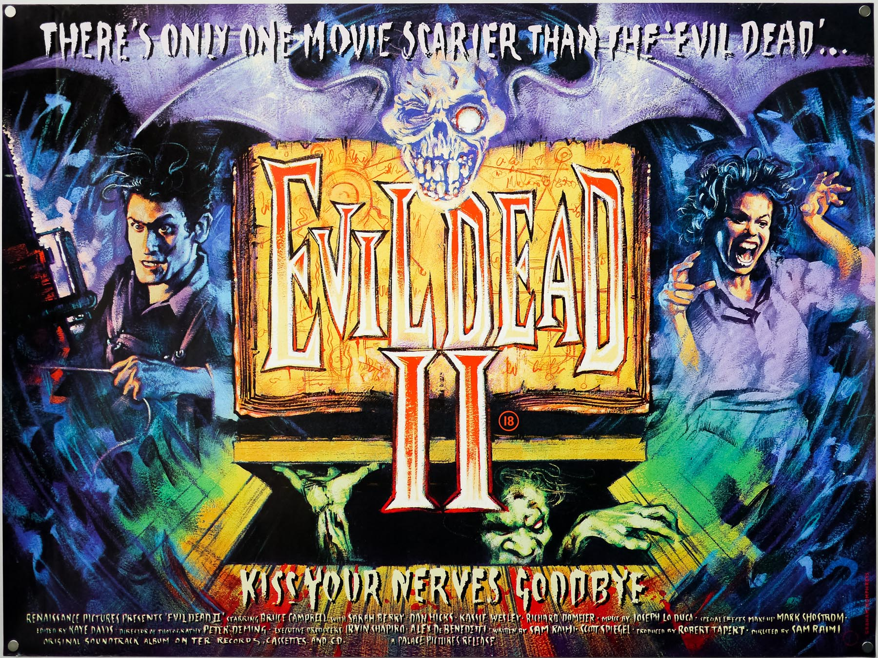 The UK quad for Evil Dead II, by Graham Humphreys