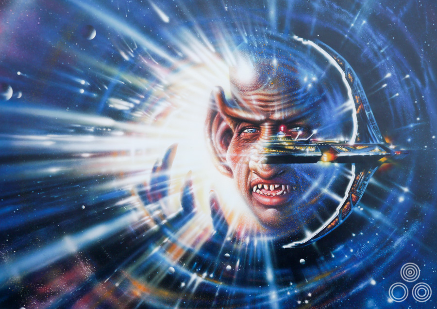 Original artwork for a Star Trek Deep Space Nine VHS cover 'The Cardassian' by Brian Bysouth