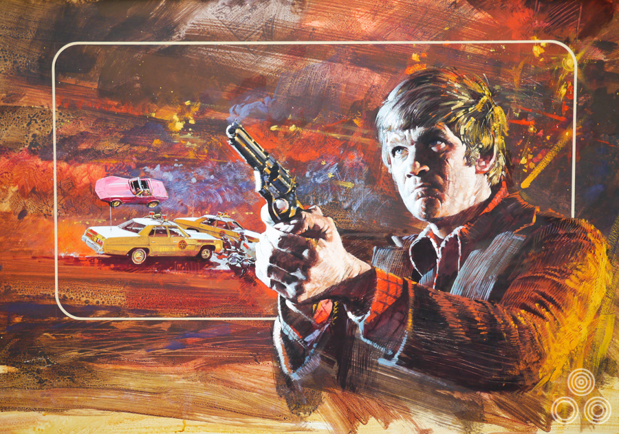 The original artwork for Legend of the Lawman by Brian Bysouth, 1975