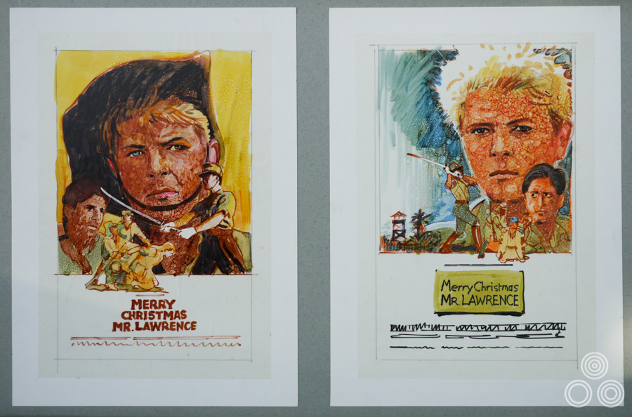 Unused roughs for Merry Christmas Mr Lawrence, drawn by Brian Bysouth, 1983
