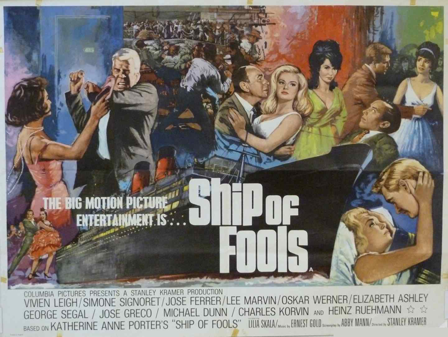 The UK quad for Ship of Fools, painted by Brian Bysouth, 1965. Image taken from here.