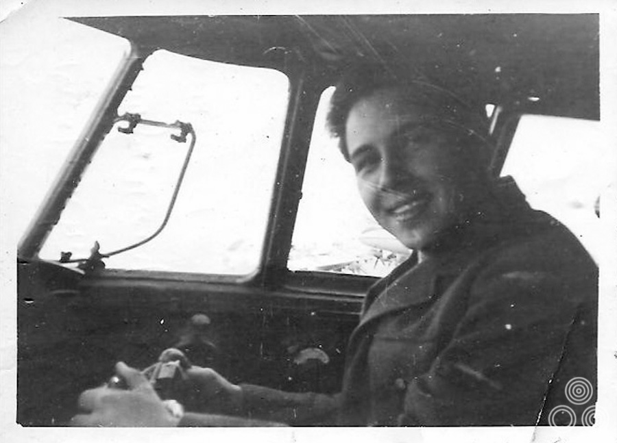Brian Bysouth at the controls of a Hastings aircraft whilst serving with No.70 Squadron, RAF Nicosia