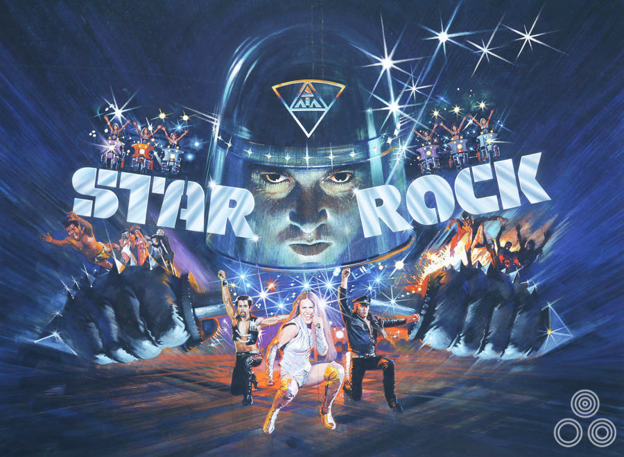 The original artwork for Star Rock (released as The Apple), designed and painted by Brian Bysouth, 1980
