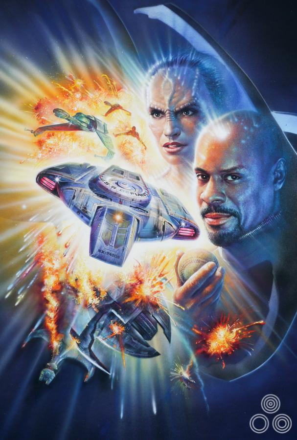 Original Star Trek Deep Space Nine packaging artwork by Brian Bysouth