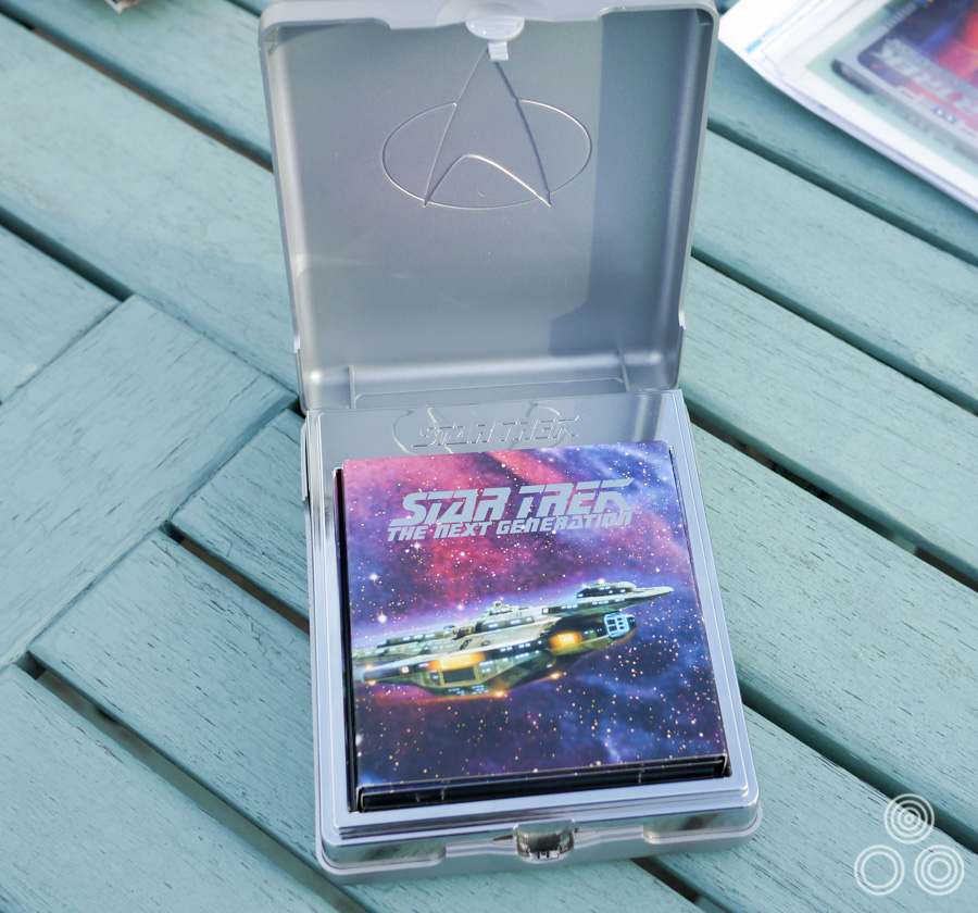 The box that houses the Star Trek Next Generation DVD set, designed by Richard Jones and Brian Bysouth