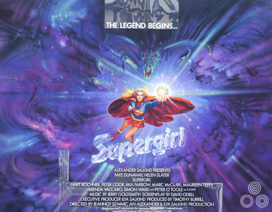 The original artwork for Supergirl by Brian Bysouth, 1984