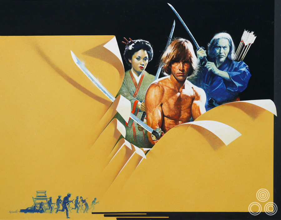 The original artwork for The Challenge, painted by Brian Bysouth, 1982