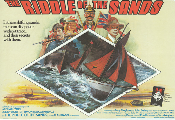 The Riddle of the Sands - quad poster, painted by Brian Bysouth, 1978