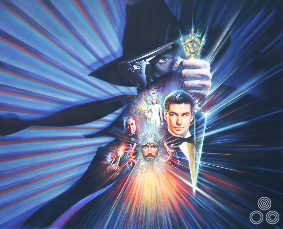 The artwork for The Shadow, designed and painted by Brian Bysouth, 1994. This was one of the artist's final quad posters.