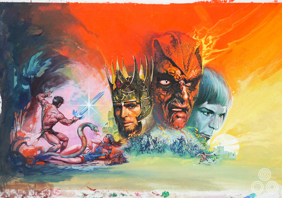 The original artwork for The Sword and the Sorceror by Brian Bysouth, 1977