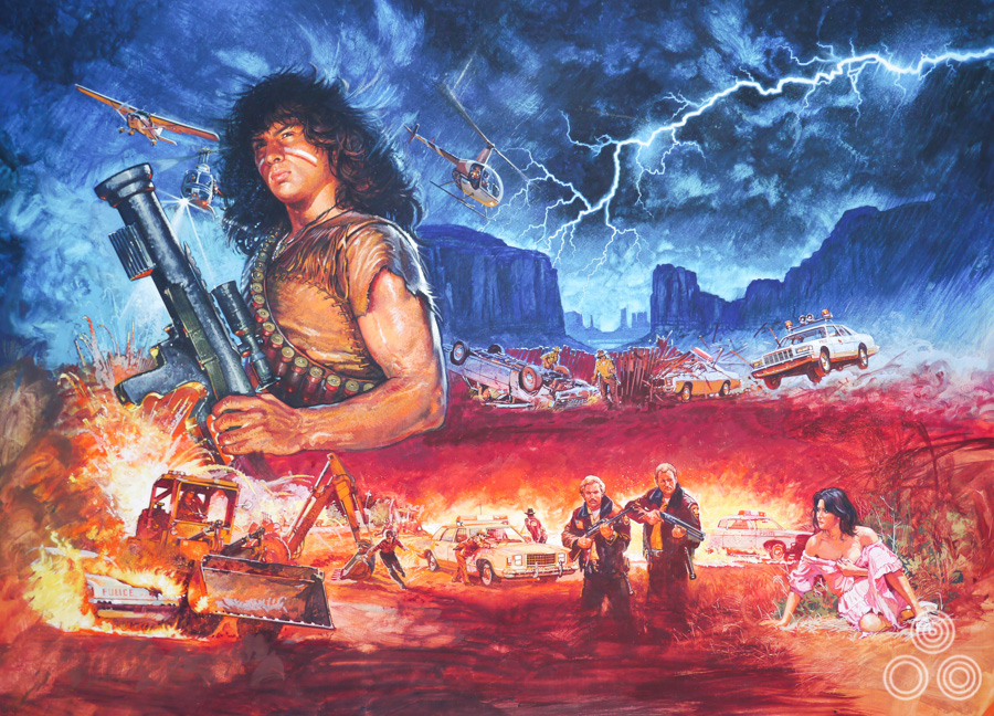 The original artwork for the poster forThunder by Brian Bysouth, 1983