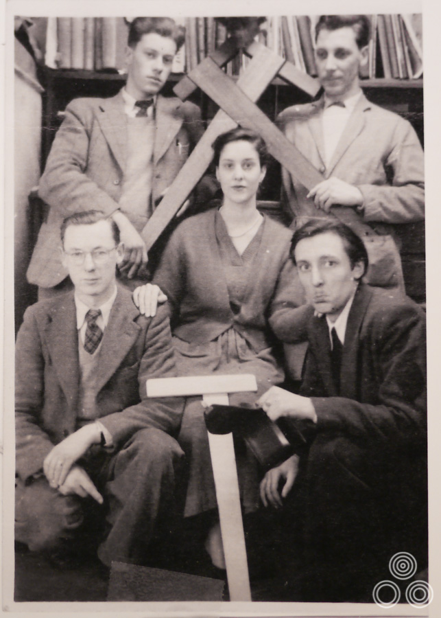 Some of the Bateman Artists crew, 1955