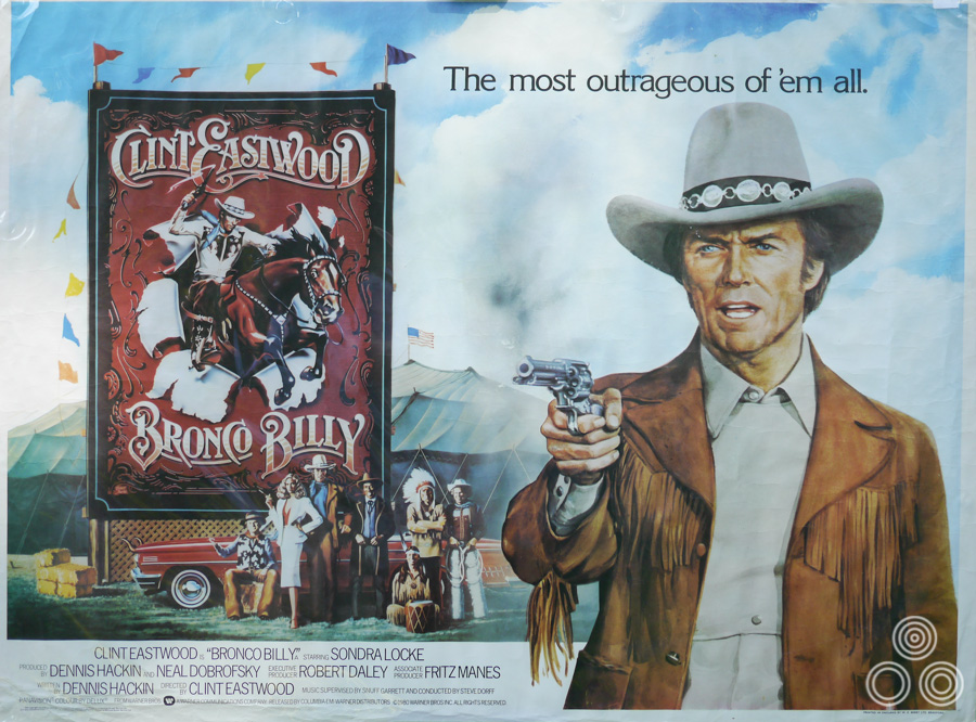 The UK quad for Bronco Billy, designed and illustrated by Tom Beauvais, 1980.