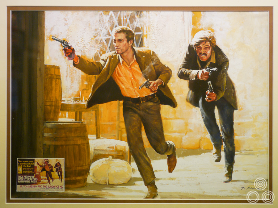 The original artwork for Butch Cassidy and the Sundance Kid, by Tom Beauvais, 1969