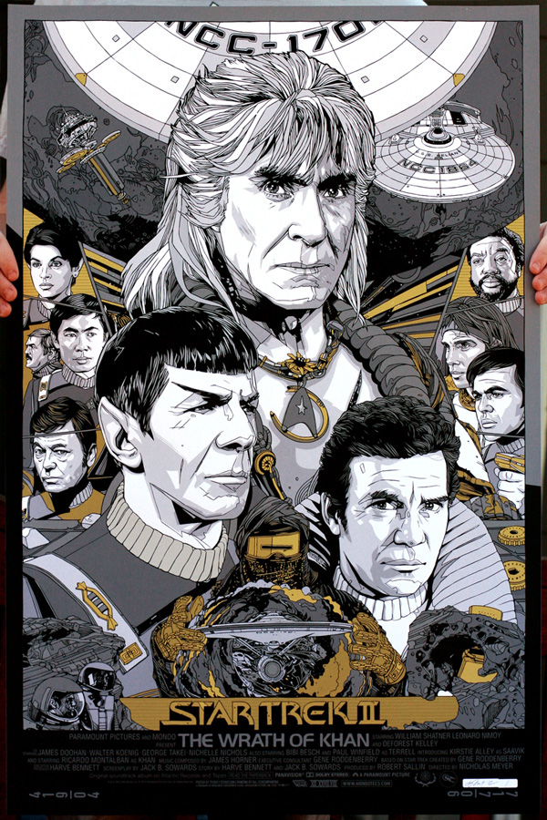 The variant version of the Wrath of Khan print by Tyler Stout.