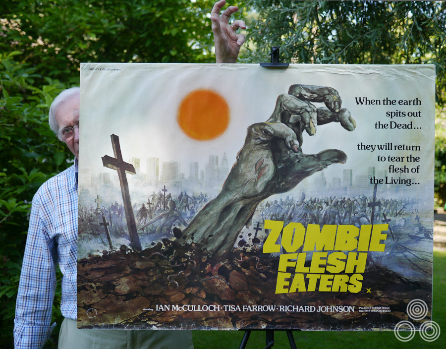 Tom Beauvais stands behind his quad for Lucio Fulci's Zombie Flesh Eaters