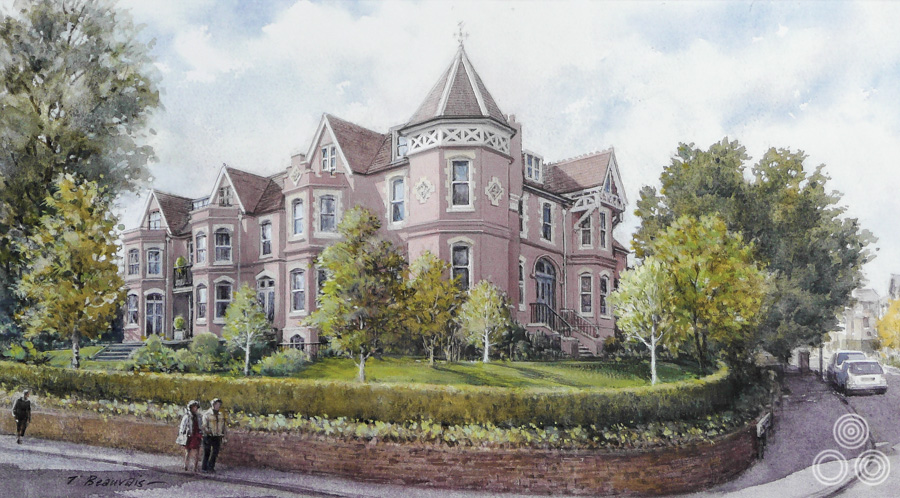 An illustration of Turret House on Jenna Road, Guildford.