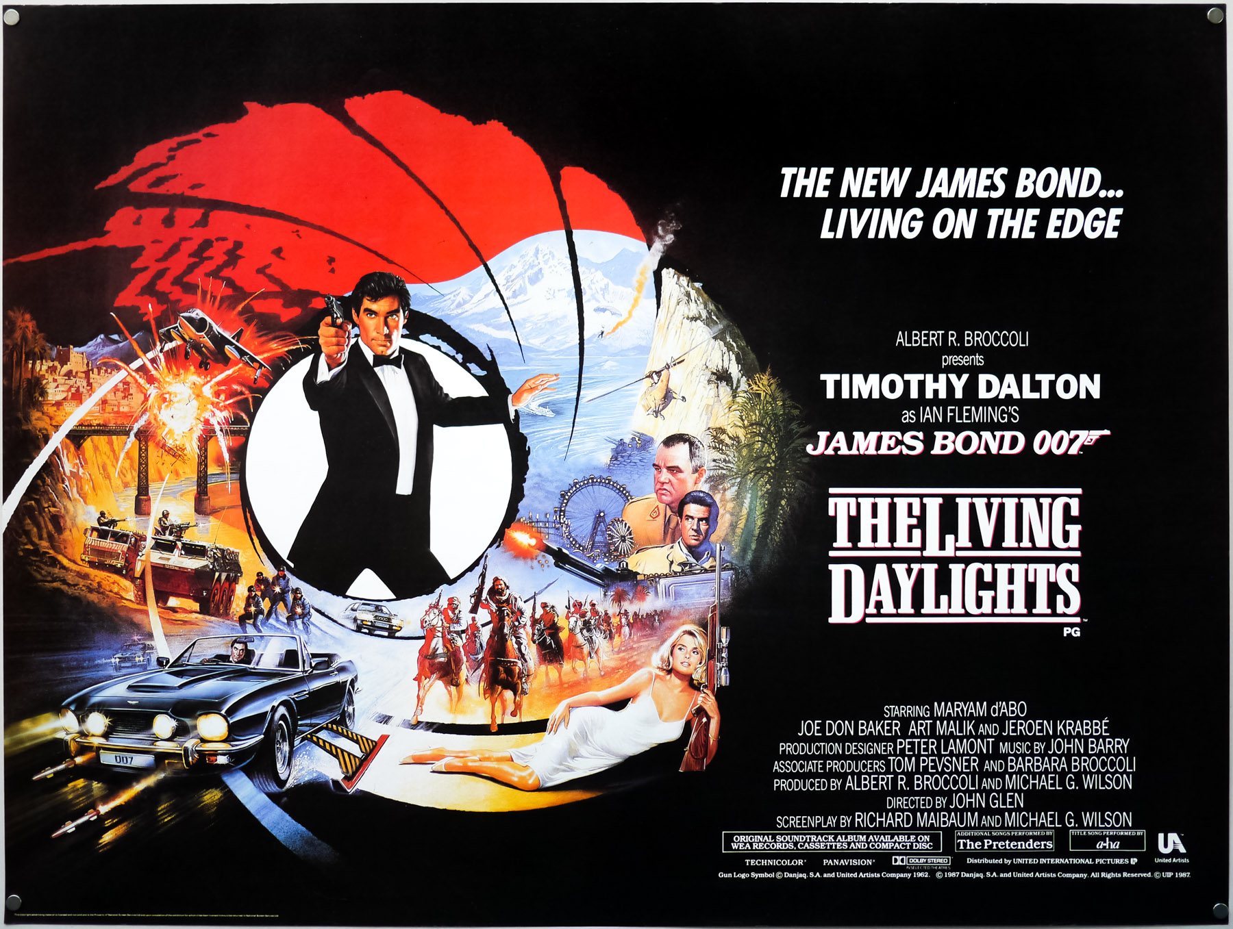 The Living Daylights (1987) – UK quad, by Brian Bysouth