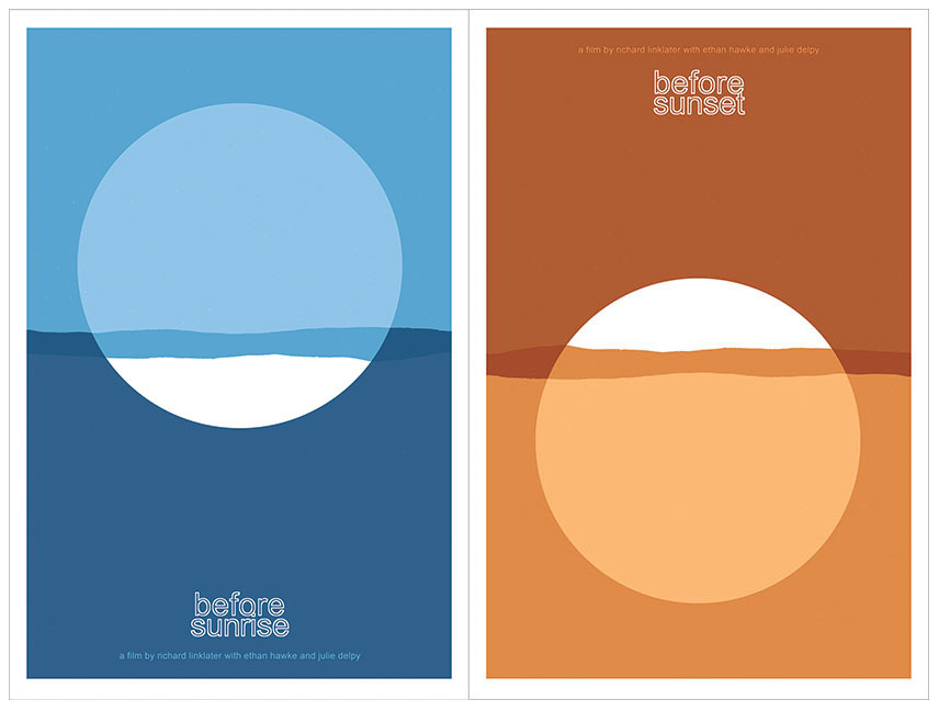 Before Sunrise and Before Sunset screen prints by Sam's Myth