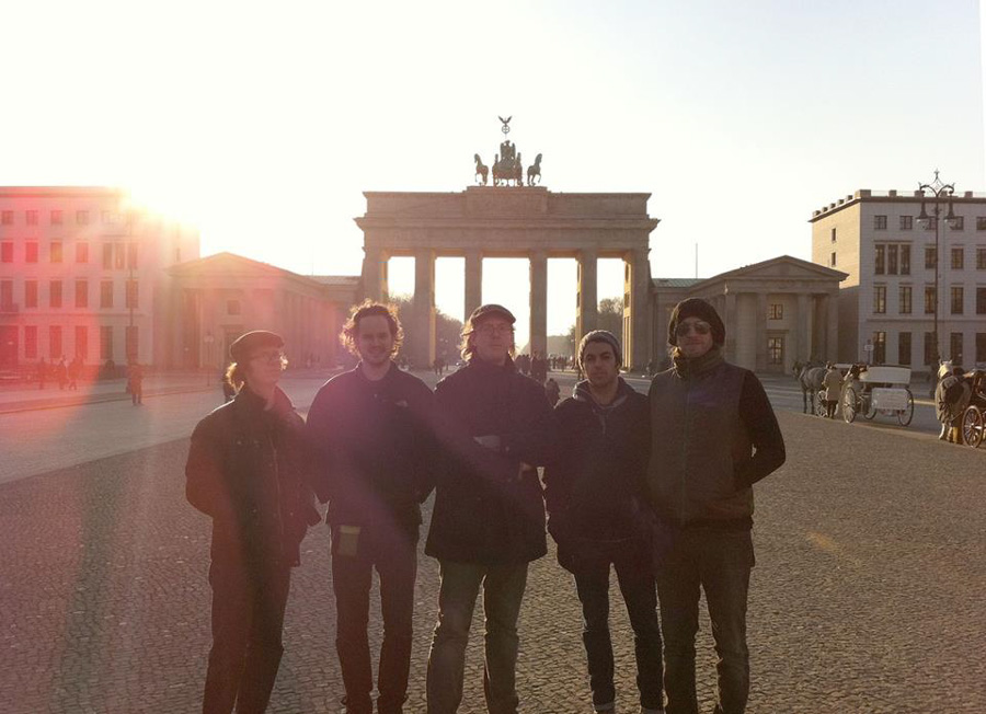 The Ben Folds Band on tour, Berlin 2011 (Sam Smith in the centre)