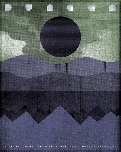 A gig poster for the band Dungen by Sam's Myth, 2010