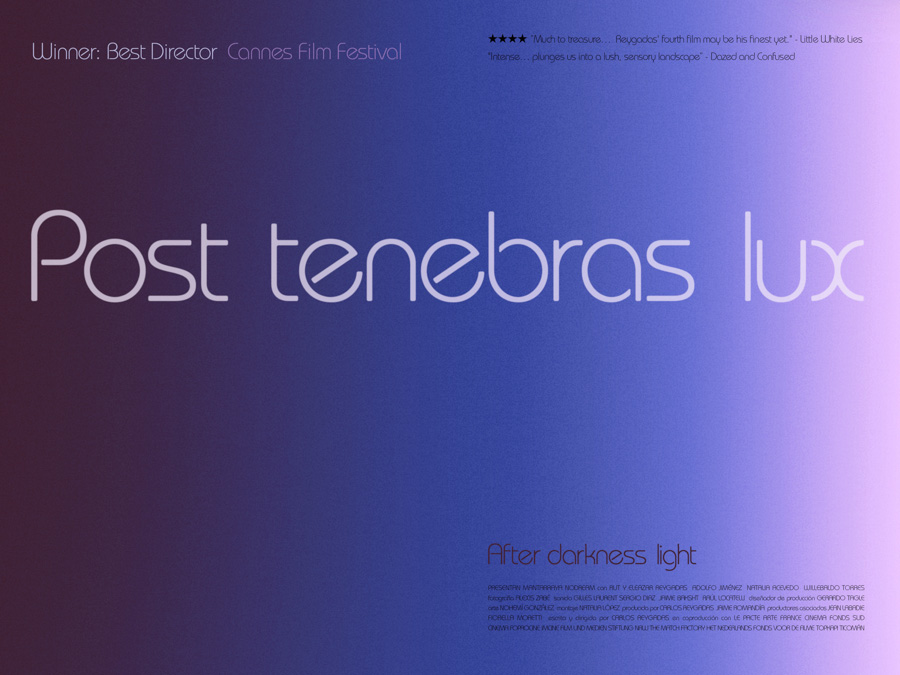 An early concept poster for the poster of Post Tenebras Lux, by Sam's Myth, 2013