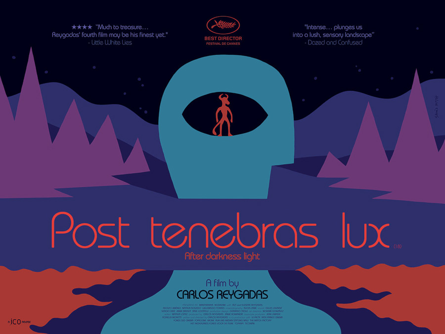 The final quad poster for the release of Post Tenebras Lux, designed by Sam's Myth, 2013